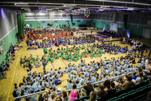 Hundreds of school children battle it out for medals in mini-Olympics!