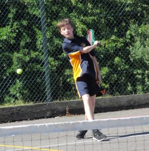 Hitting a winning tennis shot