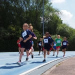 Hundreds of school children battle it out for medals in mini-Olympics