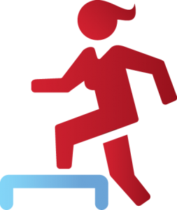 Icon of Woman stepping