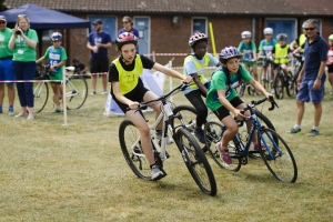 Cyclists at the School Games