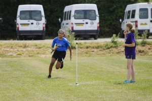 Rounders action at the School Games