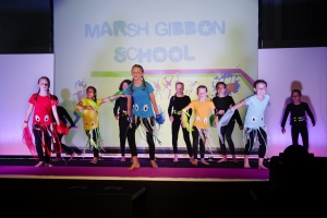 Marsh Gibbon school performing at the School Games 2018
