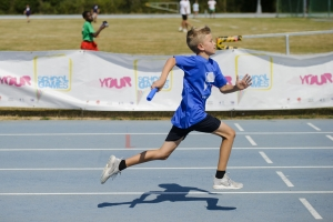 Athletics relay at the school games