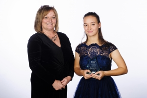 Young Leader of the year, Isabella Parola with Karen Mitchell from category sponsors Buckinghamshire College Group